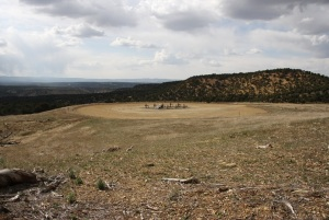 Fracking well, Piceance Basin, Colorado
